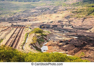 Openpit lignite mine - The site for extraction of lignite in...