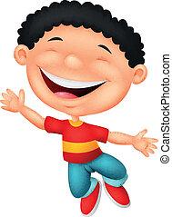 Happy boy cartoon - vector illustration of Happy boy cartoon
