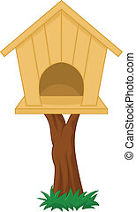 Bird house - vector illustration of Bird house