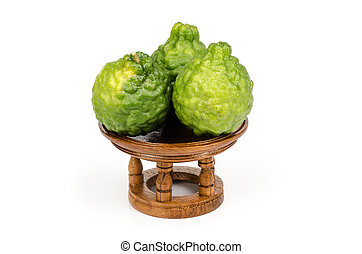 Bergamot - Image of bergamot in wooden Northern Thais tray