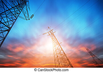 Power Tower - Power tower in the sky background