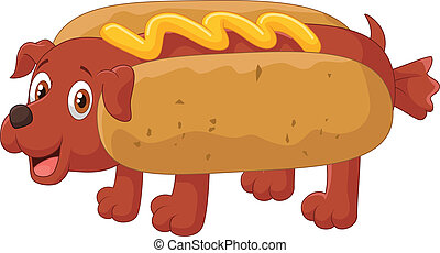 Hot Dog Cartoon Character - vector illustration of Hot Dog...
