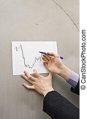 marcação,  buisenessman, Mapa, mãos