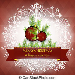 Christmas gretting card - Christmas and new year greeting...