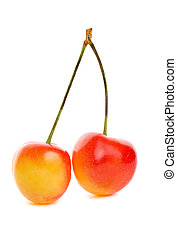 Rainier cherries - Delicious sweet rainier cherries on a...