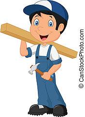 Carpenter cartoon - vector illustration of Carpenter cartoon