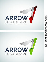 Arrow logo design made of color pieces - Abstract arrow logo...