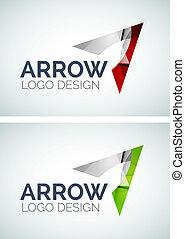 Arrow logo design made of color pieces - Abstract arrow logo...