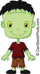 Frankenstein, caricatura, niño