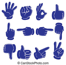 Hands in blue colors - Illustration of the hands in blue...