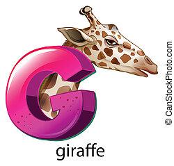 A letter G for giraffe - Illustration of a letter G for...