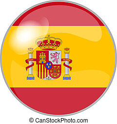 button spain - illustration of a button spain