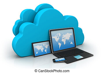 Electronic Devices with  cloud server