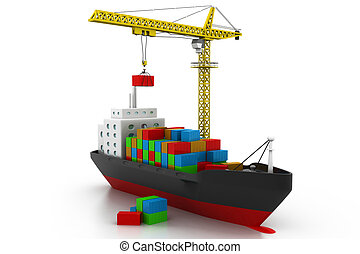 containers cargo ship