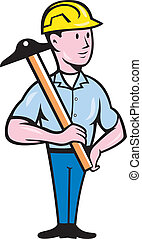 Engineer Architect T-Square Cartoon - Illustration of an...