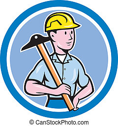 Engineer Architect T-Square Circle Cartoon - Illustration of...