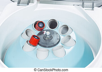 electronic medical blood centrifuge in laboratory