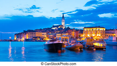 Coastal town of Rovinj, Istria, Croatia - Romantic Rovinj is...