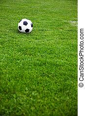 futball, labda, képben látható, egy,...