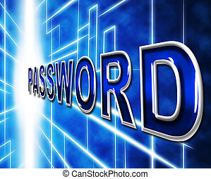 Password Passwords Indicates Log In And Accessible -...