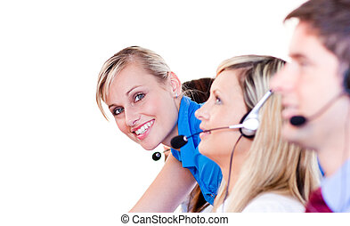 Team in a call center