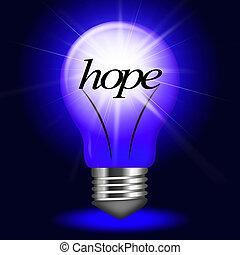 Lightbulb Hope Indicates Want Wanting And Hopeful -...