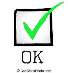 Ok Tick Shows Yeah Allright And Confirmed - Tick Ok Meaning...