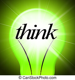 Think Idea Indicates Concept Inventions And Contemplating -...
