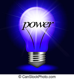 Electrical Power Represents Light Bulb And Bright