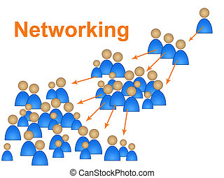 Network Networking Represents Social Media Marketing And...