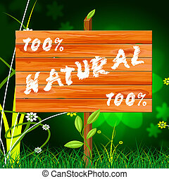 One Hundred Percent Indicates Nature Genuine And Natural