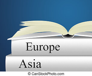 Europe Books Indicates Travel Guide And Asian - Asia Travel...