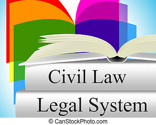 Civil Law Indicates Judiciary Juridical And Court - Civil...