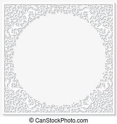 Paper floral frame