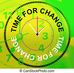 Time For Change Shows Revise Changing And Difference - Time...