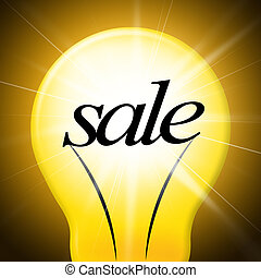 Savings Sale Indicates Clearance Wealthy And Increase