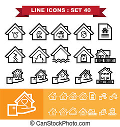 Real Estate line icons set 40Illustration eps 10