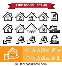 Real Estate line icons set 40.Illustration eps 10