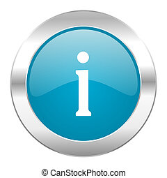 information internet blue icon