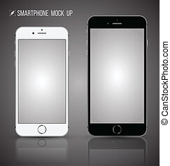 Vector smartphone mock up - realistic smartphone mock up