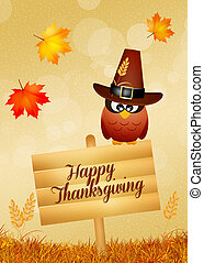 Happy Thanksgiving - illustration of Thanksgiving