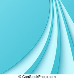 Abstract blue background with curved lines. Vector...