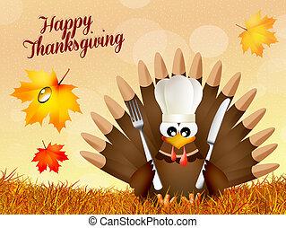 Turkey forThanksgiving day - illustration of turkey...