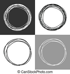 Hand drawn circles
