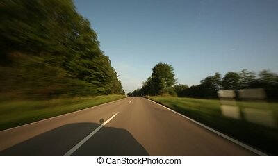 Timelapse Onboard-Camera on a rural road in Germany - Video...
