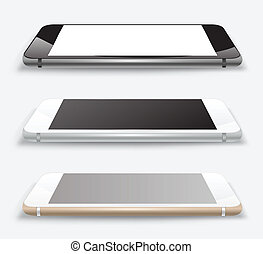 Vector smartphone mock up. - perspective smartphone mock up.