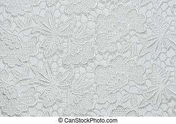 Flower lace pattern on fabric.