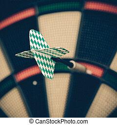 Darts board, vintage