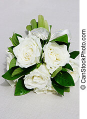 Bouquet - Beautiful wedding bouquet of long stemmed white...