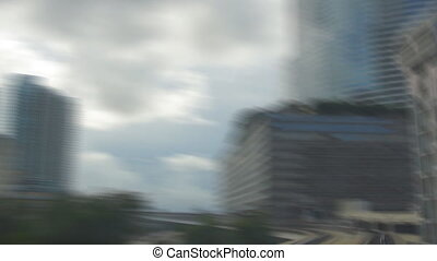 Miami downtown - Panoramic time-lapse of Miami downtown from...